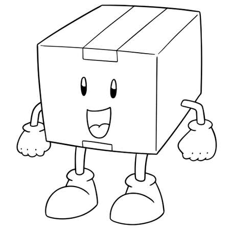 Vector of box cartoon.