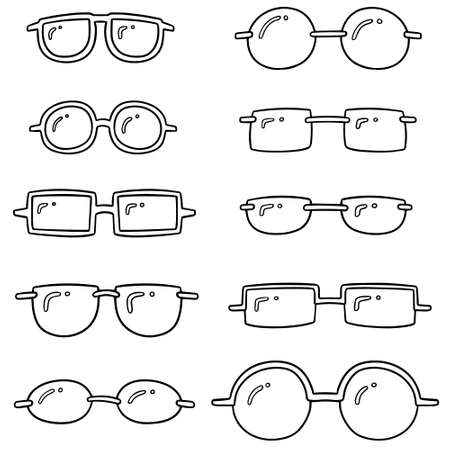 Eyeglasses vector illustration Illustration