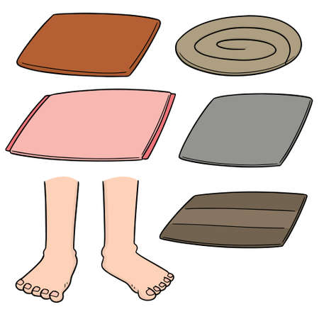 Foot wipes vector illustration  イラスト・ベクター素材