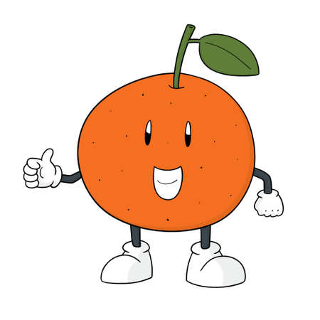 Orange cartoon vector illustration