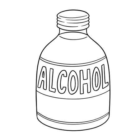 vector of medical alcohol Illusztráció