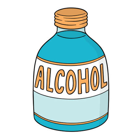 vector of medical alcohol Illustration