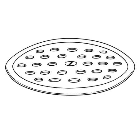 vector of cover the drain Vetores