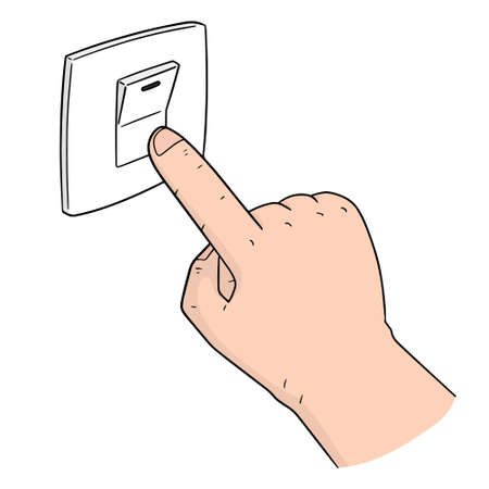 Vector of electric switch 版權商用圖片 - 96790563
