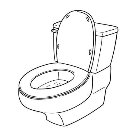 Vector of flush toilet
