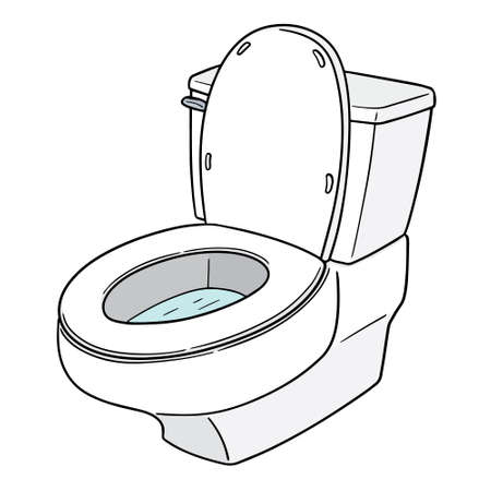 Vector of flush toilet