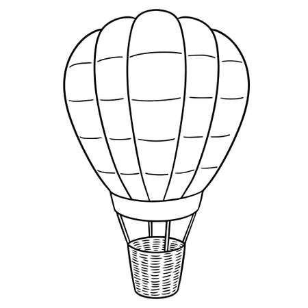 Vector of hot air balloon Illustration