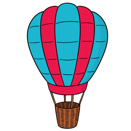 Vector of hot air balloon  イラスト・ベクター素材