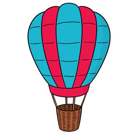 Vector of hot air balloon Vectores