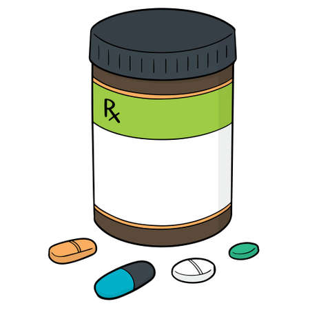 Vector set of medicine and medicine bottle 일러스트