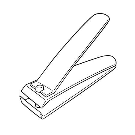 Vector of nail clipper Çizim