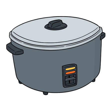 Vector of rice cooker