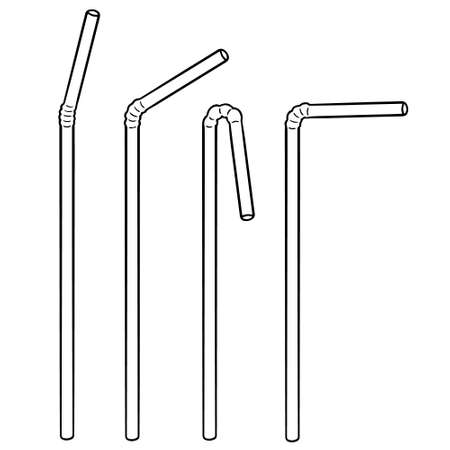 Vector set of straws