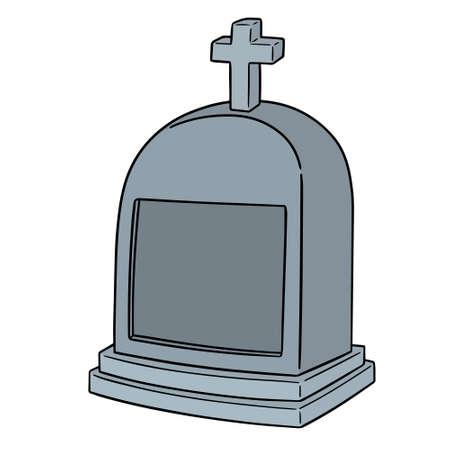 Vector of tombstone