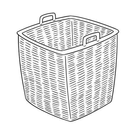 Vector of wicker basket