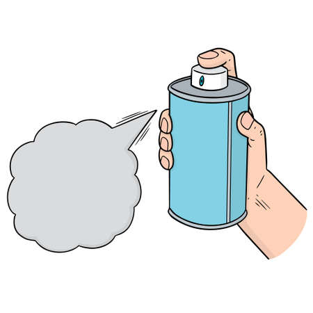 Vector of spray can Illustration