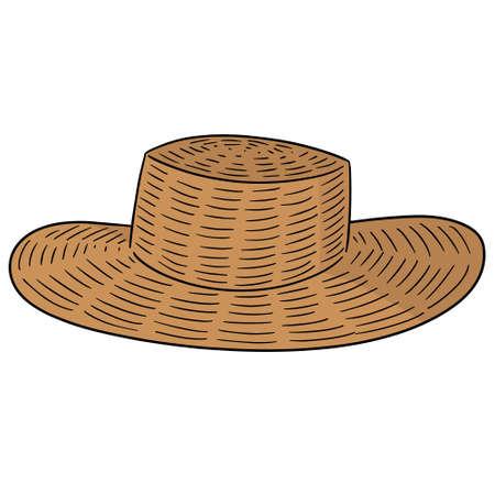 Vector of straw hat 版權商用圖片 - 96850994