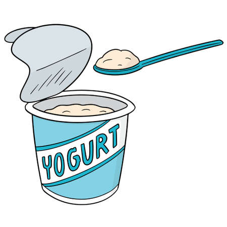 Vector of yogurt Фото со стока - 96851119