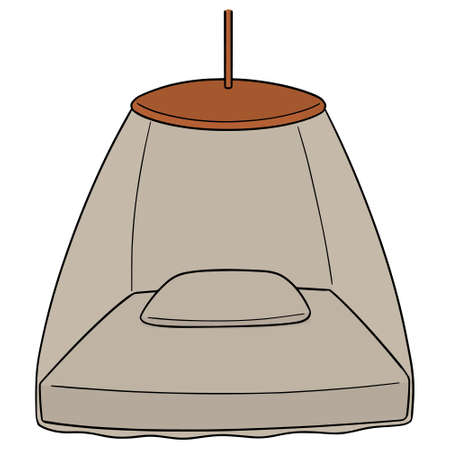 Vector of mosquito net Stock Illustratie