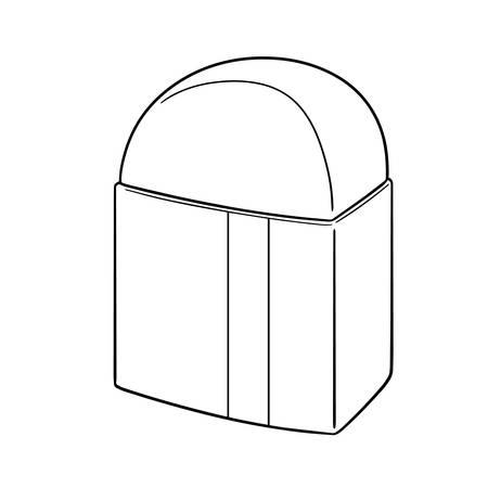 vector illustration of eraser