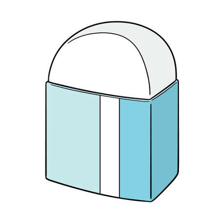 vector illustration of eraser