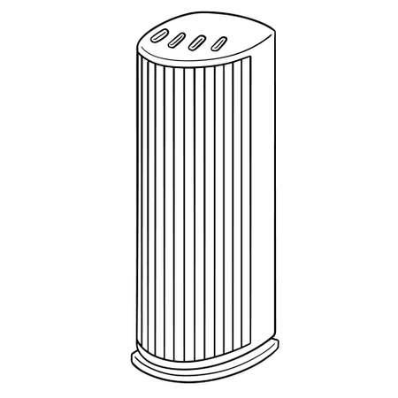 vector illustration of fan