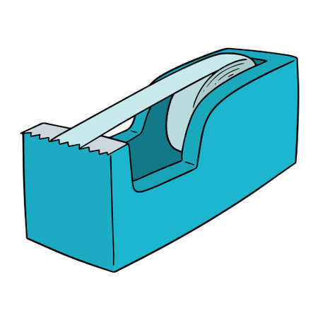 Silhouette style vector illustration of a tape dispenser, isolated on white Banque d'images - 97700080