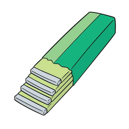 vector of bubble gum
