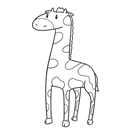 vector of giraffe black and white