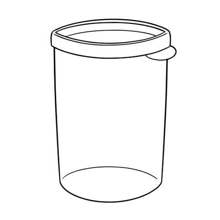 vector of plastic container black and white