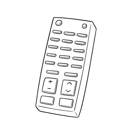 vector set of remote control black and white