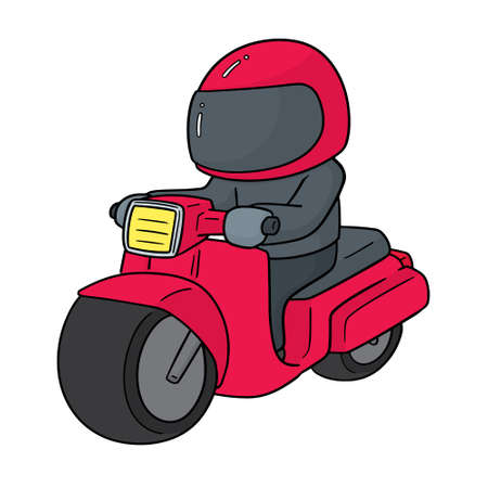 vector of riding motorcycle 일러스트