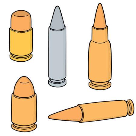 vector set of bullet