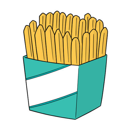 vector set of frenchfries Çizim
