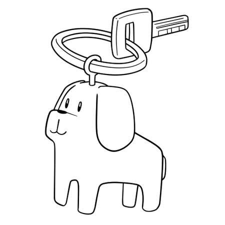 vector of dog keychain