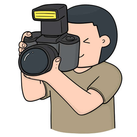 vector of photographer Ilustrace