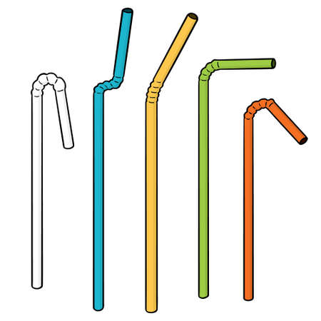 vector set of straw 版權商用圖片 - 98610959