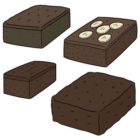 vector set of brownie 일러스트