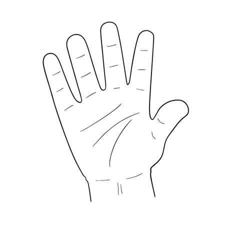 vector set of cartoon hand Stock Illustratie
