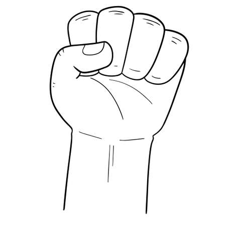 vector of cartoon fist Illustration