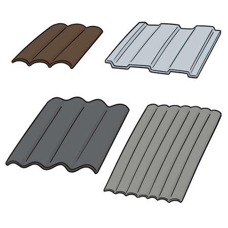 vector set of roof tile illustration.