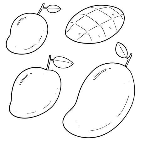 vector set of mango 向量圖像