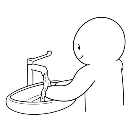 vector of people washing hand