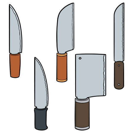 vector set of knives Vettoriali