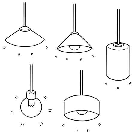 Vector set of ceiling lamp
