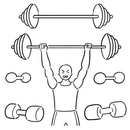 vector set of weightlifter