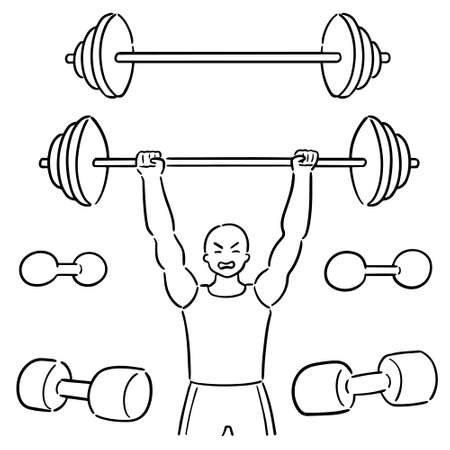 vector set of weightlifter