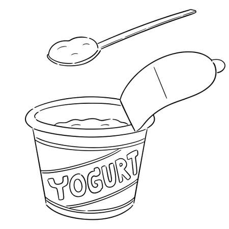 vector of yogurt