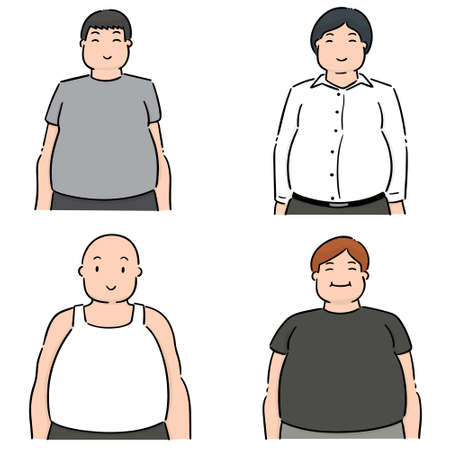 set of fat people