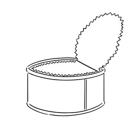 vector of can Illusztráció
